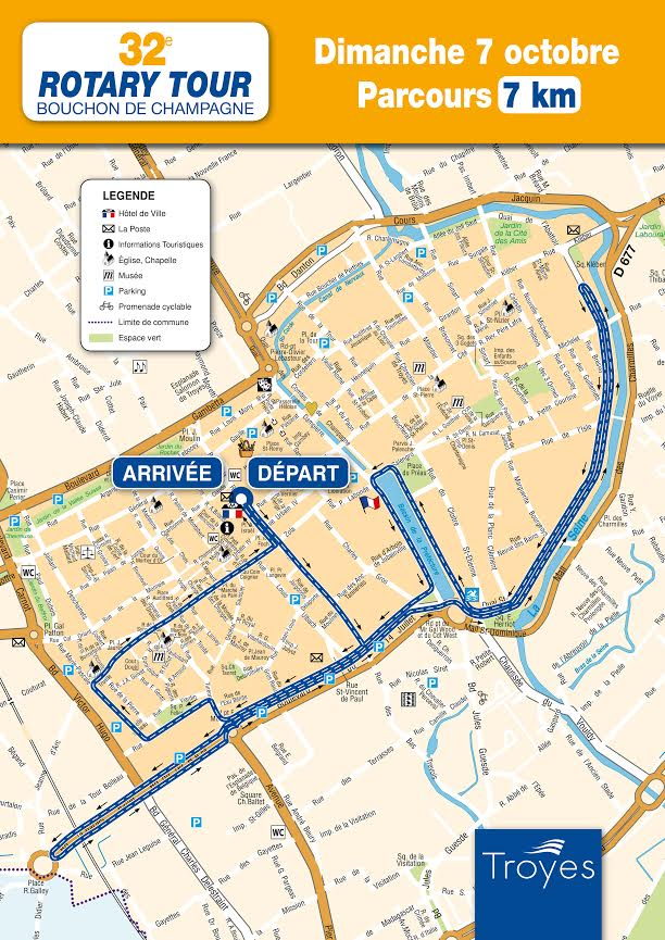 Plan de la grande course